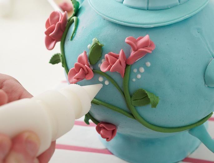 تزیین کیک به شکل قوری - تزیین کیک تولد