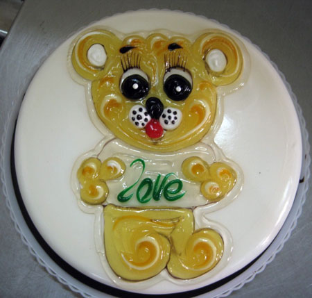تزیین کیک تولد با ژله ,تزیین کیک تولد کودک