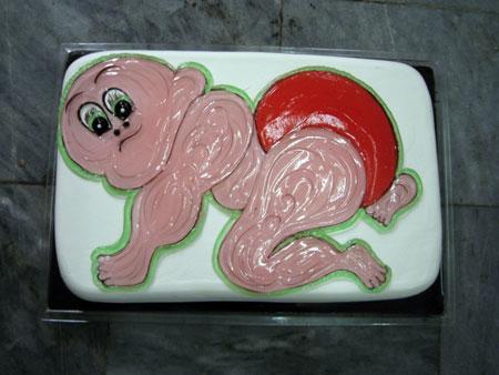تزیین کیک تولد با ژله ,تزیین کیک تولد بچه