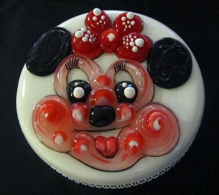 تزیین کیک تولد با ژله
