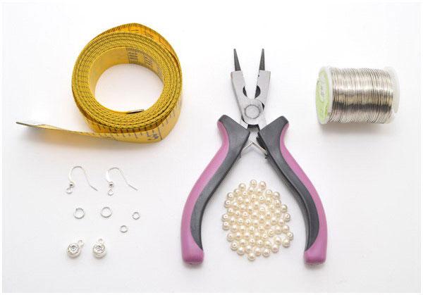 آموزش ساخت زیورآلات - آموزش ساخت گوشواره با مروارید و سیم