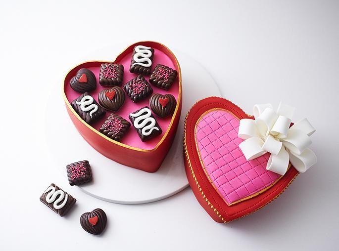 تزیین کیک شکل جعبه شکلات - تزیین کیک تولد