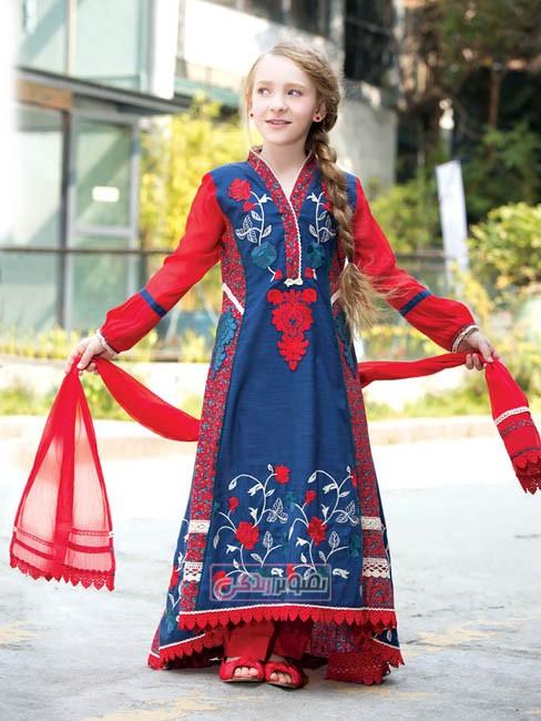 پیراهن سنتی دخترانه 2015 - مدل لباس هندی