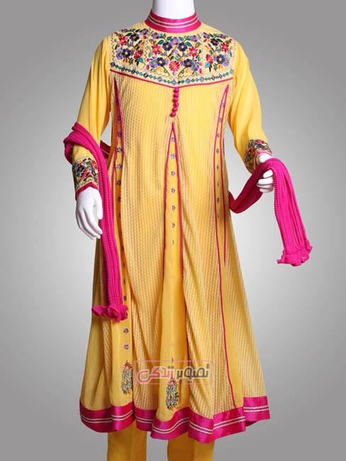 پیراهن سنتی دخترانه 2015 - مدل لباس پاکستانی