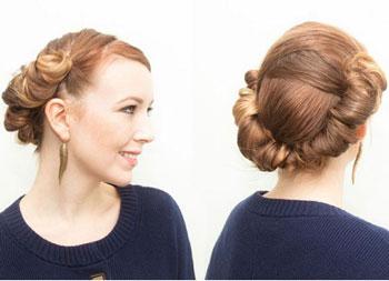 آموزش آرایش مو - شینیون مو در خانه
