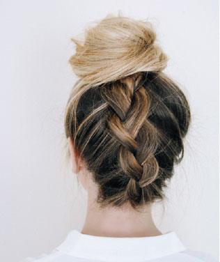 آموزش آرایش مو در خانه - شینیون ساده مو