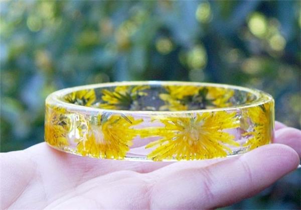 دست بندهای رزینی زیبا با گل خشک مینیاتوری
