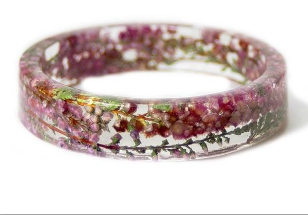 دستبندهای رزینی زیبا با گل خشک مینیاتوری