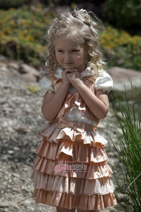 مدل لباس مجلسی بچگانه - پیراهن دخترانه