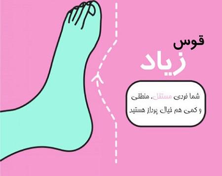 سرگرمی فال و طالع بینی  , شخصیت شناسی از روی شکل پاها