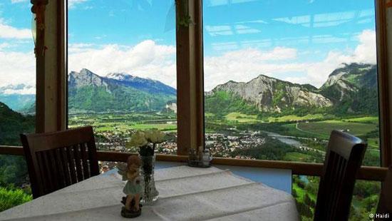 رستوران رویایی Wartenstein در شرق سوئیس
