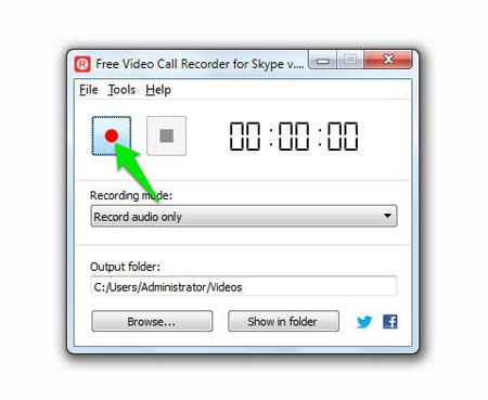تماسهای ویدئویی, ترفندهای اسکایپ - ضبط مکالمات در اسکایپ