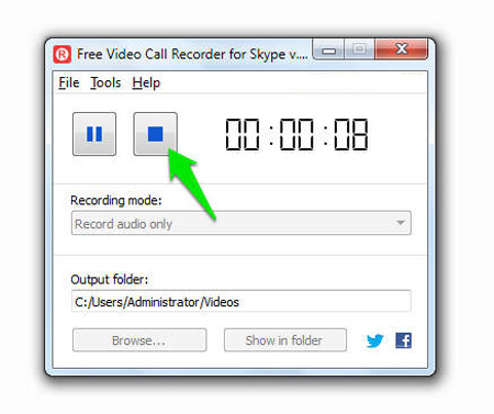 Free Video Call Recorder For Skype, ترفندهای اسکایپ ,ضبط مکالمات در اسکایپ