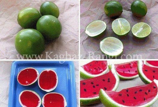 ژله هندوانه در پوست لیمو