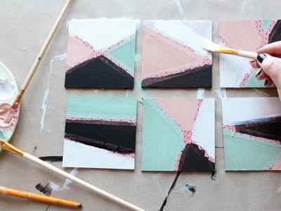 آموزش هنرهای دستی  , ساخت زیرلیوانی های زیبا