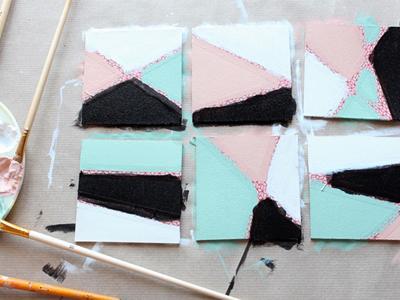 آموزش تصویری ساخت زیر لیوانی