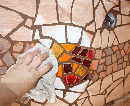 آموزش تزیین دیوار با کاشی شکسته , هنر معرق کاشی