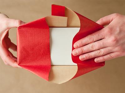 آموزش تصویری کادو کردن جعبه هدیه