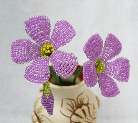 آموزش هنرهای دستی  , آموزش تصویری ساخت گل منجوق بافی