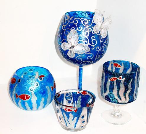 آموزش ویترای - نقاشی روی شیشه - آموزش ویترای روی ظروف