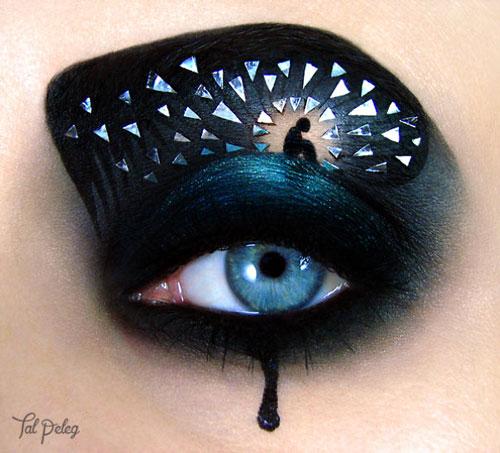 نقاشی های زیبا روی پلک چشم
