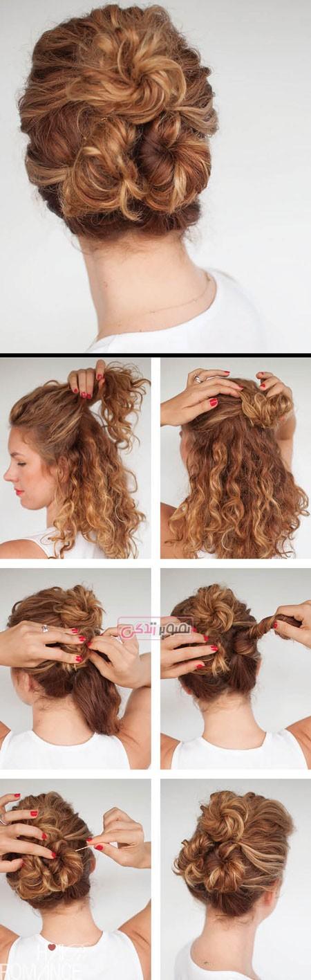 آموزش آرایش مو - شینیون موی ساده