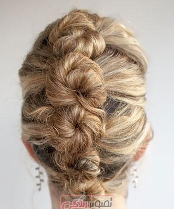 آموزش آرایش مو - آموزش شینیون ساده مو