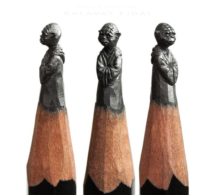 خلق آثار هنری زیبا روی نوک مداد