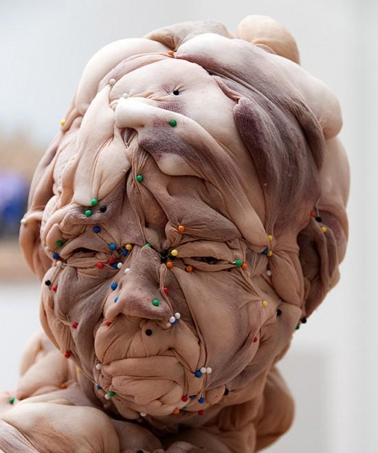 Rosa-Verloop مجسمه های پیکر انسان ساخته شده از جوراب