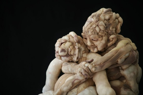 Rosa-Verloop مجسمه های انسانی از جوراب