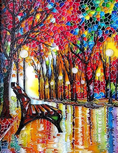 نمونه کارهای هنر ویترای - قاب ویترای