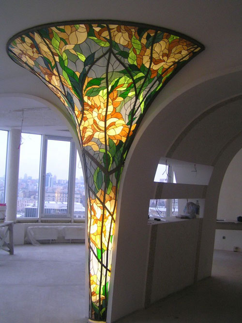 کاربرد ویترای - کاربرد نقاشی روی شیشه - تزیین منزل
