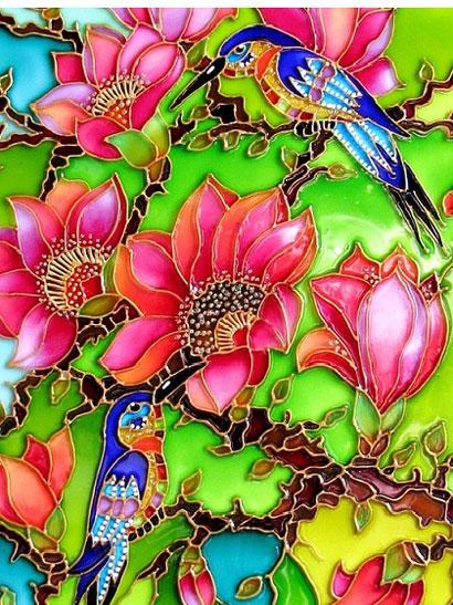 نمونه کار هنر ویترای - قاب ویترای
