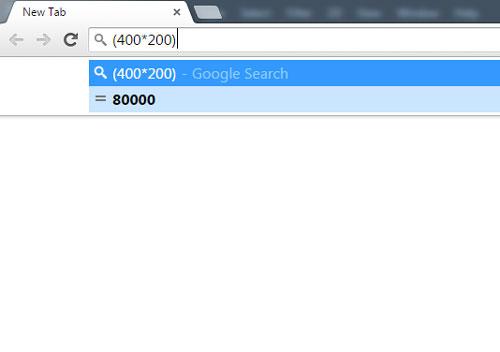 انجام محاسبات سریع با گوگل کروم , محاسبه با کروم