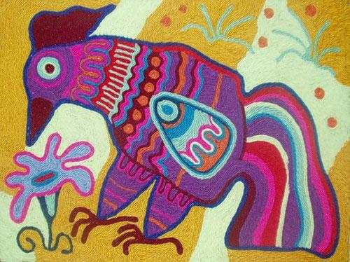 هنر بازیافت - ساخت تابلوهای زیبا با کاموا اضافی