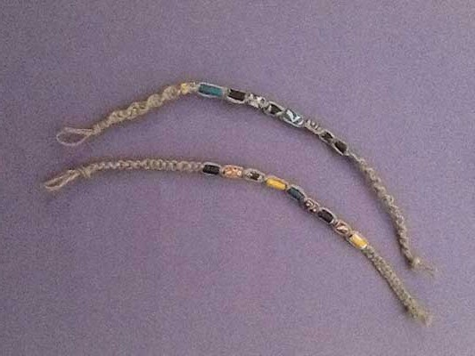 آموزش ساخت زیور آلات  , آموزش مکرومه : بافت دستبند مکرومه با گره پایه