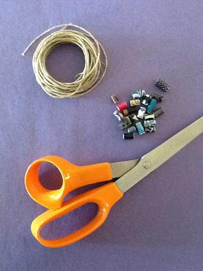 آموزش مکرومه بافی - بافت دستبند مکرومه - گره ساده