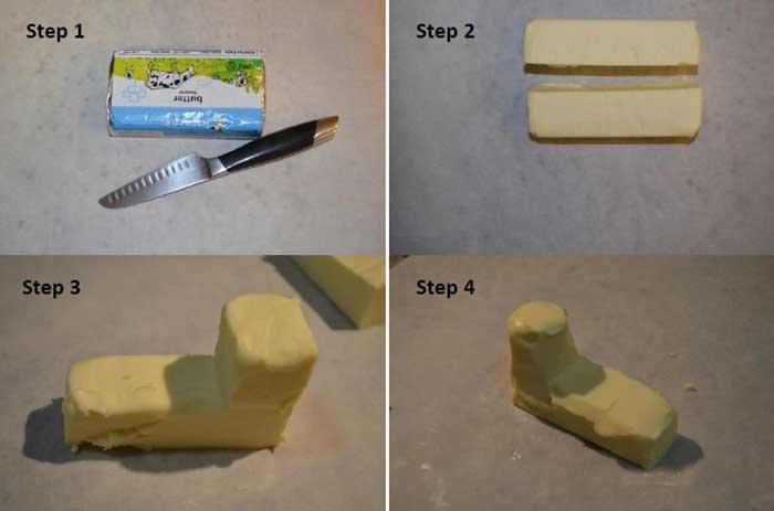 آموزش تصویری درست کردن کره به شکل بره