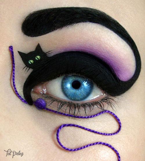 نقاشی کردن روی پلک چشم