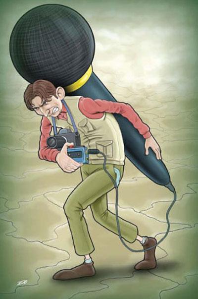 کاریکاتور 17 مرداد, کاریکاتور به مناسبت روز خبر نگار