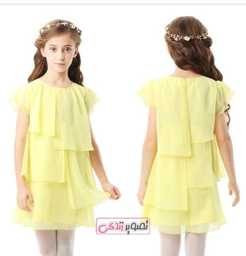 مدل لباس دخترانه حریر گلدار