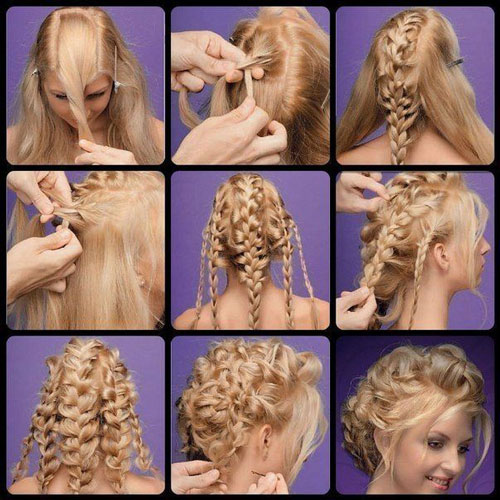 شینیون 2015 - آموزش شینیون مو - آموزش بستن موی بلند