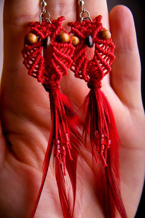 طناب بافی - مکرومه - نمونه کار