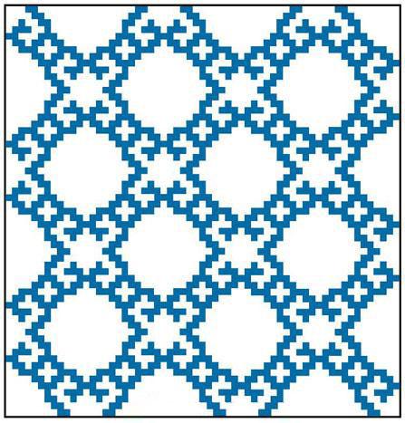 نقشه بافت گلیم - الگوی گلیم بافی - طرح گلیم