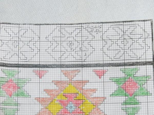 الگوی شبه قالی نقشه گلیم بافی (الگوی بافت گلیم) - مجله تصویر زندگی