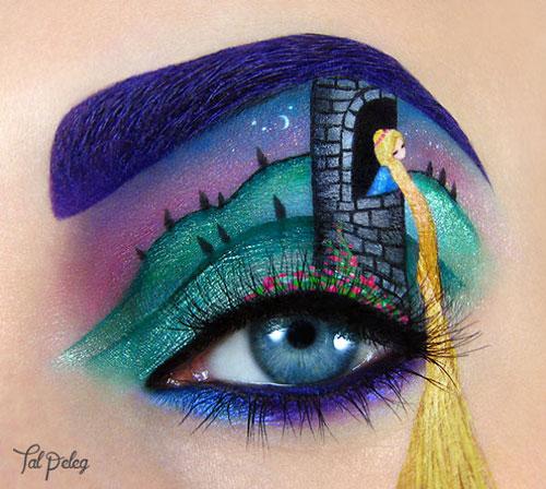 هنر نقاشی روی پلک چشم