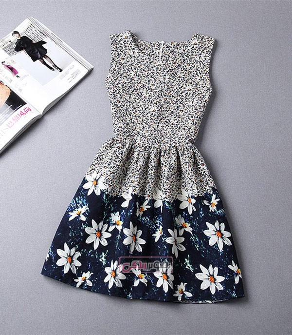 مدل پیراهن تابستانی کوتاه - لباس مجلسی دخترانه