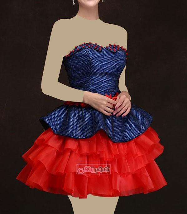 مدل پیراهن کوتاه مجلسی - لباس مجلسی دخترانه