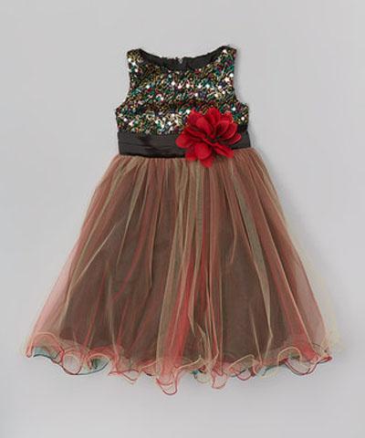 مدل لباس بچگانه - پیراهن مجلسی دخترانه