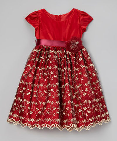 مدل لباس مجلسی بچگانه - پیراهن گیپور مجلسی دخترانه
